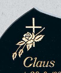 Innpreget symbol med lakk/gull